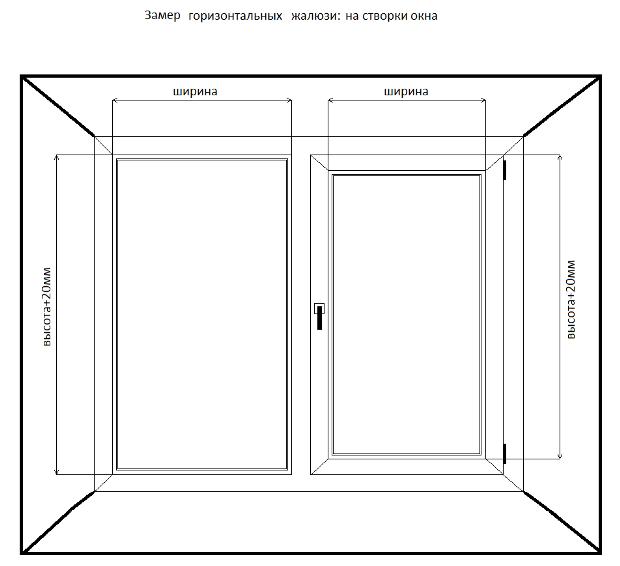 Как правильно сделать замеры окна для жалюзи 589